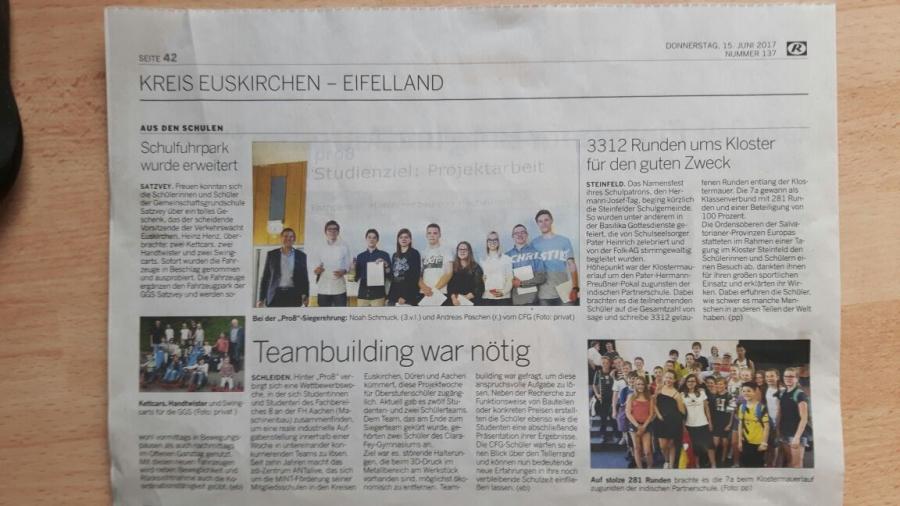 Zeitungsartikel aus Euskirchen-Schleiden